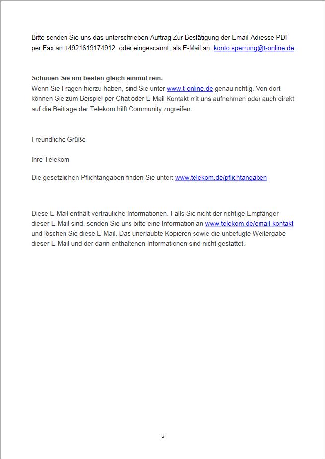 Bild einer E-Mail